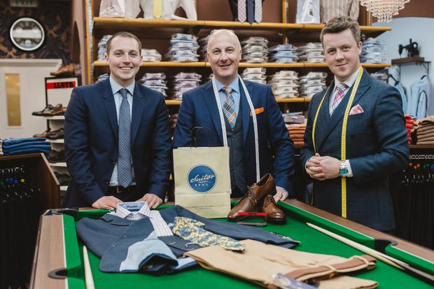 Osborne King's Stephen Smith (left) and Suitor Menswear owners William and Chris Suitor