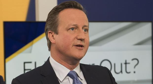 David Cameron was accused of 'scaremongering' and 'hypocrisy' by the Sky News studio audience