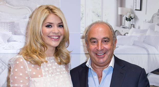 Sir Philip Green and Holly Willoughby at a BHS event