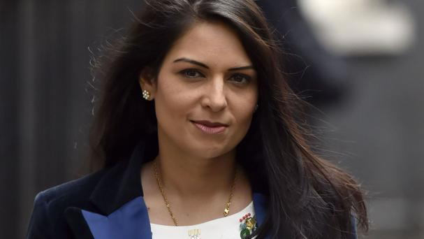 Priti Patel argues funds received back from Europe on exit will fill in for grants received from the EU.