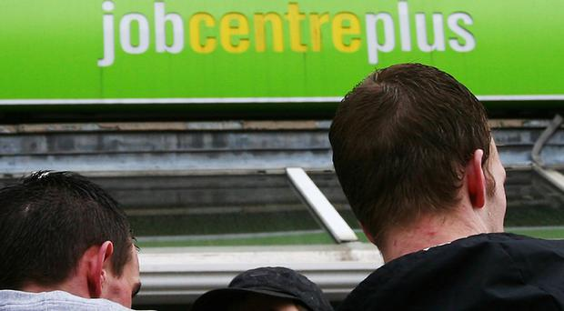A Job Centre Plus branch, as unemployment has fallen to its lowest level since spring 2008