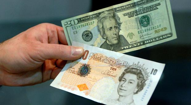 The pound's value rose again against the dollar
