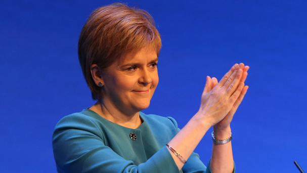 Nicola Sturgeon said it is not currently her party's policy to seek entry to the euro