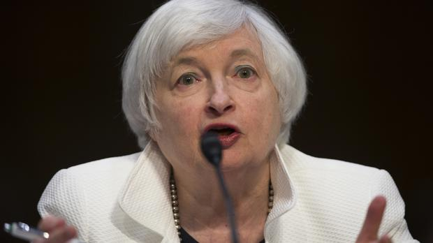 Federal Reserve chairwoman Janet Yellen on Capitol Hill in Washington (AP)