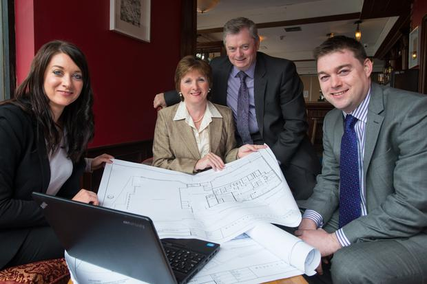 The McKeever family — from left, sales and marketing director Bridgene with company founders Catherine and Eugene and operations director Eddie — are planning to counter increased competition in Belfast
