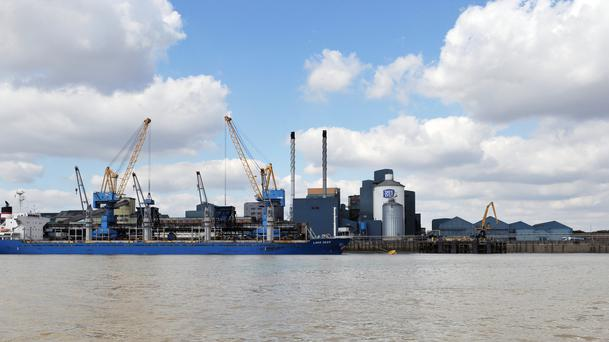 The Tate and Lyle Sugars refinery at Silvertown in east London