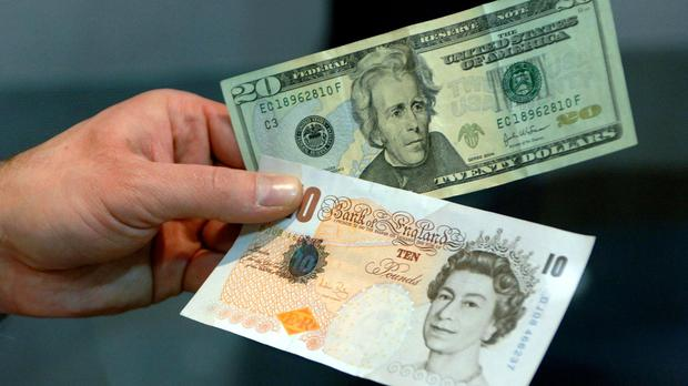 Sterling hit 1.48 US dollars