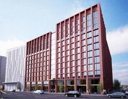 An artist's impression of the new 774-bedroom development at Nelson Street