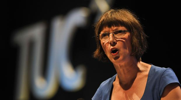 Frances O'Grady pleaded for jobs to be protected