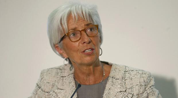 Christine Lagarde has urged the authorities in the UK and Brussels to work on a
