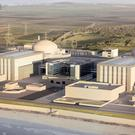 Artist's impression issued by EDF of plans for the new Hinkley Point nuclear power station