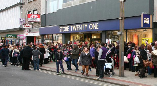 Store Twenty One operates 202 stores and employs more than 1,000 people across the UK, although it has no stores in Northern Ireland