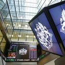 The FTSE 100 was down six points to 6,353