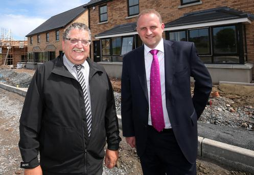 Beechill Developments founder John McAree (left) with Garry Barr from Ulster Bank