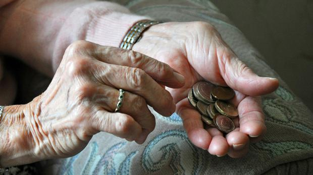 One in nine pensioners are reliant on cash handouts from their friends or relatives, a new report says