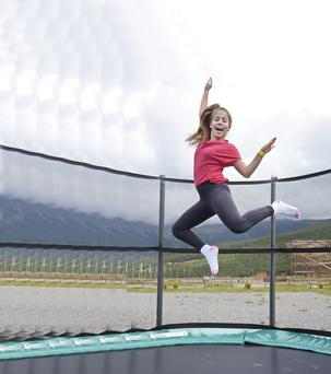 Trampolining has grown in popularity