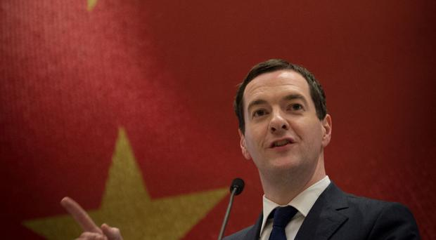 George Osborne pictured during his visit to China