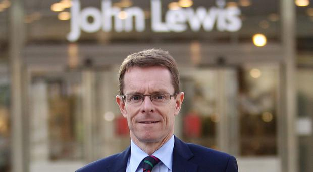 John Lewis' Andy Street said say his major concern is the potential drop in consumer spending growth