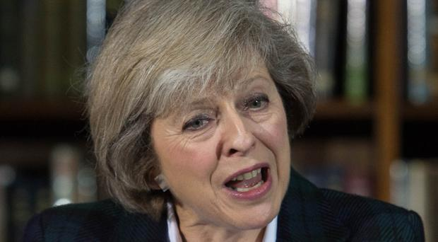 Seal of approval: Theresa May