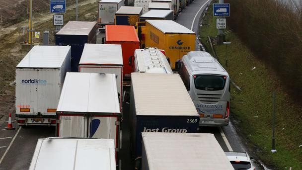 The vast majority of ferry freight units are trucks and trailers accompanied by drivers