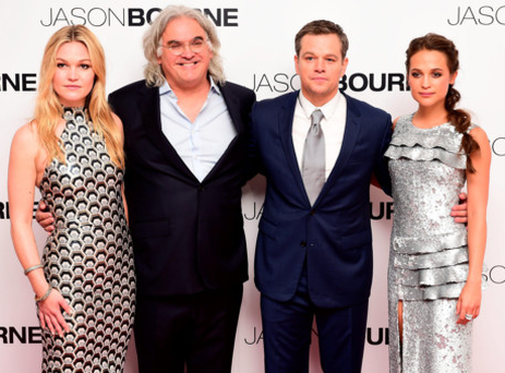The Odeon in London's Leicester Square is the most famous cinema in the UK and recently hosted the European premiere of Jason Bourne. From left: Julia Stiles, Paul Greengrass, Matt Damon and Alicia Vikander