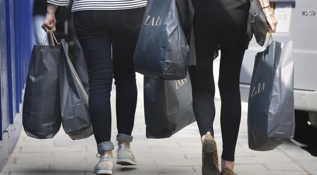The number of shoppers on the country's streets saw the sharpest fall in over two years in June