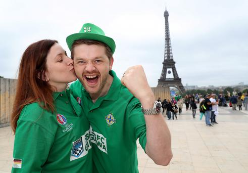 Northern Ireland fans like Alison and Chris McHenry flocked to Paris to see Northern Ireland play in Euro 2016