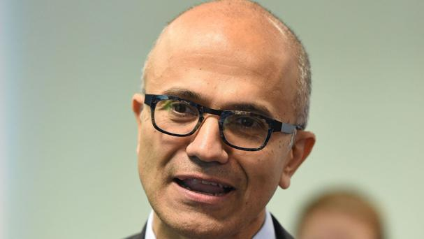 Microsoft chief executive Satya Nadella said the company was