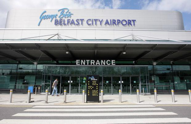 The woman was leaving her mother-in-law to Belfast City Airport.