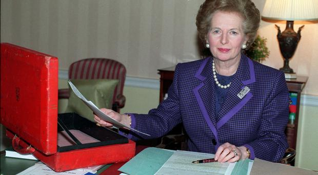 Margaret Thatcher battled her ministers over ERM.