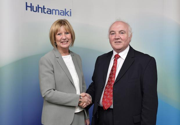 The takeover of Delta Print was one of the biggest deals in the second quarter of the year. Huhtamaki's Rosemary Mason marked the deal with Delta founder Terry Cross