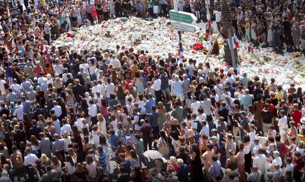 Thousands pay their respects to the people killed in last week's terror attack in Nice