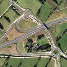 An aerial view of the A8 road to Larne which had funding from the EU