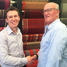 David Acheson (left) of Ulster Carpets with Roger Oates