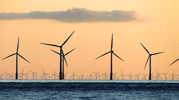 The amount of onshore and offshore wind turbines and solar panels increased last year