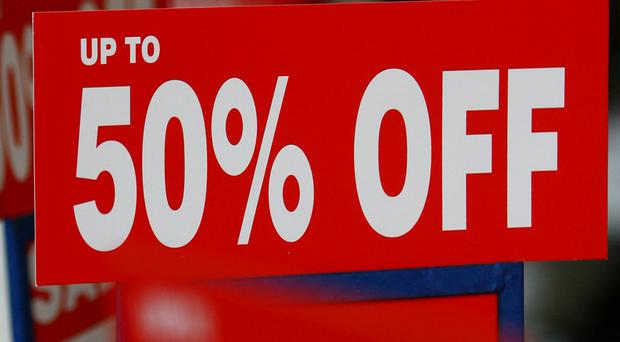 High street stores are discounting heavily in a bid to tempt shoppers