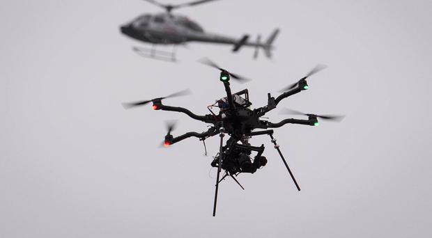 The unusual incident was one of hundreds involving remote control shop-bought drones across the UK last year