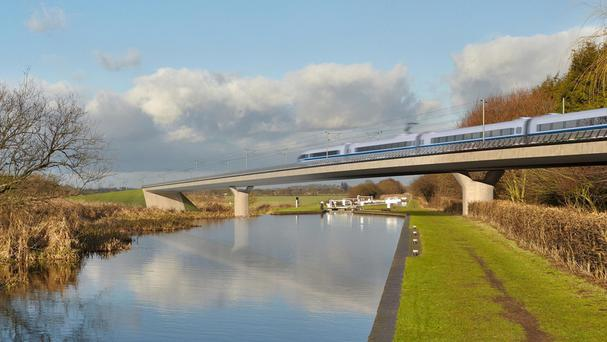 The Birmingham and Fazeley viaduct will be part of the proposed route for the HS2 scheme