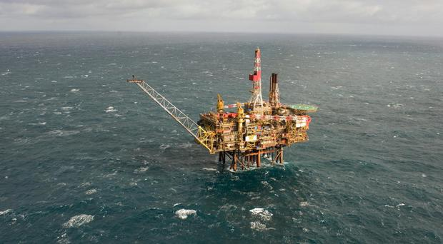 The workers service Shell platforms in the North Sea