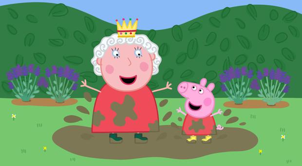 Peppa Pig, owned by Entertainment One, meets the Queen (Entertainment One/Astley Baker Davies)