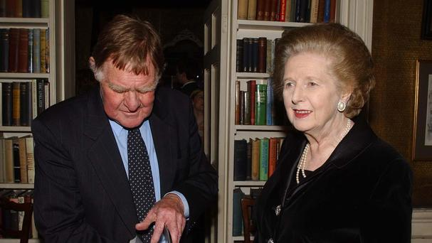 Sir Bernard Ingham with former prime minister Baroness Thatcher