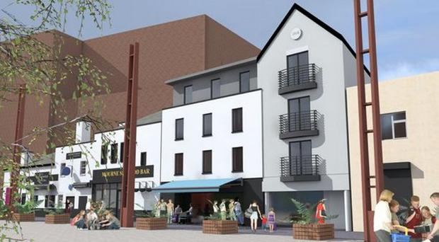 Artist's impression of the new Bank Square hotel in Belfast