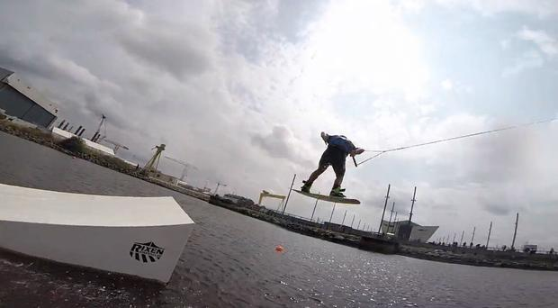 Some of the world's best wakeboarders have descended upon Coleraine this week