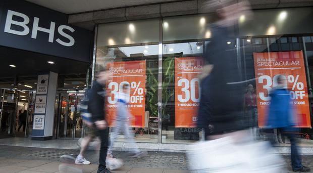 The BHS store in Oxford Street in London's West End