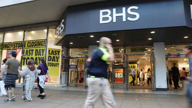 The last hours of trading at BHS on Oxford Street