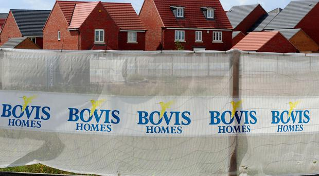 A Bovis Homes construction site in Nottinghamshire.