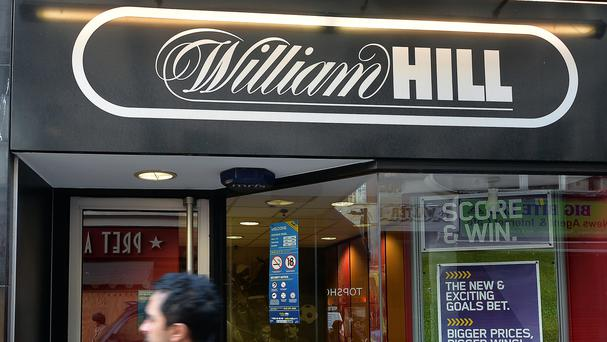 Shares in William Hill were down more than 2% on the news