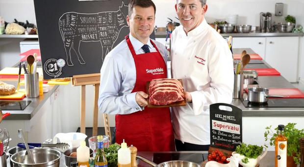 Michael McCormack (left), managing director of Musgrave NI, and SuperValu's ambassador chef Noel McMeel
