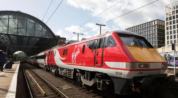 A Virgin East Coast train at London's King's Cross station
