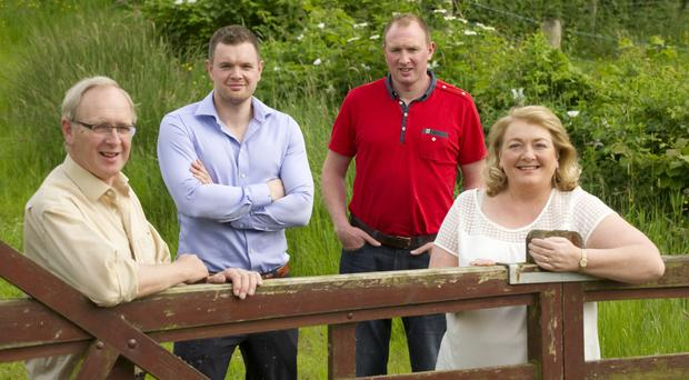 Sam Robinson of Cloughbane Foods with sons Richard and Robert and wife Lornathe